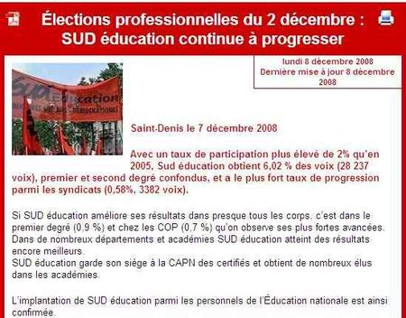 Elections pro sud