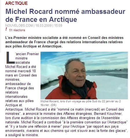 Michel rocard en arctique