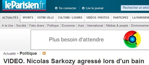 Sarkozy agressé
