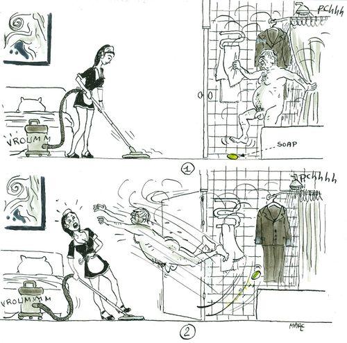 Tentative de réhabilitation de DSK (hypothèse de la savonette)